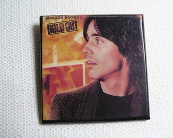 Vintage 80s Jackson Browne - Hold Out Album (1980) - Pin / Button / Badge