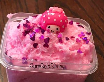 Pink cloud slime valentines slime rose(scented ) slime