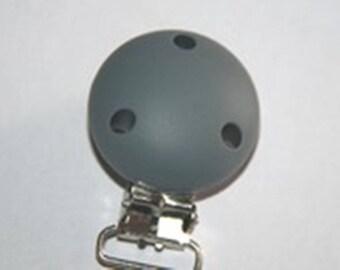 Pacifier silicone clip Grey