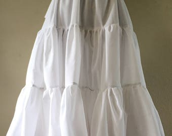 Broadcloth Petticoat Made to Desired Length Drawstring Waist Closure
