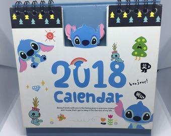 2018 Lilo & Stitch aloho friends desktop calendar memo office  planner diary