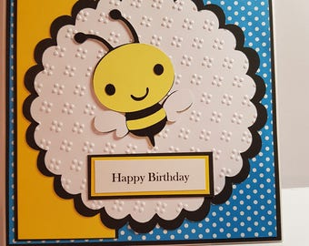 Happy Birthday card, Bee card, Birthday Bee, Birthday Card, Birthday, Card, Greeting Card, Blank Birthday Card, Grerting Blank Card