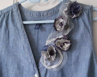 Example of customization of denim for the special occasion dress of a country wedding