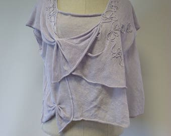 The hot price! Summer lilac linen top, L size.