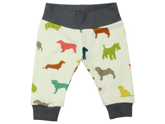 Newborn Dog Leggings Yoga Waist Organic Cotton Multicolor Dog Boy Baby Leggings Going Home Outfit Puppy Boy  Pants The Chase