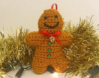 Christmas Tree Ornament Crochet Gingerbread Man