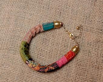Boho Jewelry, Ethnic Jewelry, Boho Cuff, Cuff Bracelet, Cuff Bohemian, Fabric Bracelet, Jewel Handmade, Bohemian Jewelry, Color Cuff, Gypsy