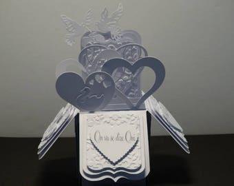 Wedding invitation pop up - themed pop up heart of winter