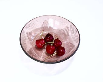 Lovely pink glass bowl