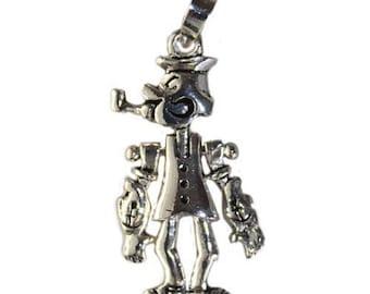 925 Sterling Silver Popeye Pendant