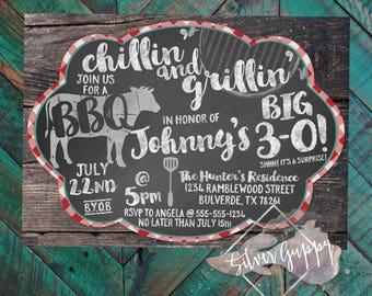 BBQ themed Birthday Invitation