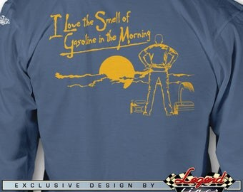 I Love the Smell Of Gasoline in the Morning Long Sleeves T-Shirt - Mechanic - Multiple colors - Size: S - 3 XL - Great Racing & Cool Gift