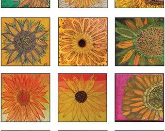 Sunflower Art Poster - original art