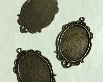 3 oval 40 * 30mm bronze pendant