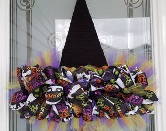 Witch Hat Halloween Wreath