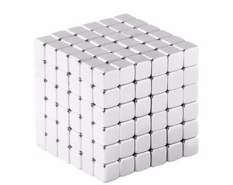 1/8 x 1/8 x 1/8 Inch (3.17 x 3.17 x 3.17 mm) Neodymium Rare Earth Cube Magnets N48 (216 Pack)