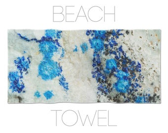 Azurite Beach Towel, Blue Towels, Mineral Photography, Cool Beach Towels, Beach Towel Online, Gym Towel, Mens Beach Towel, Unique Towels