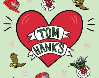 Tom Hanks 4eva A4 Print