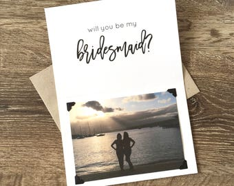 Will You Be My Bridesmaid Card | Personalized Bridesmaid Card | Recycled A5 Folded Card & Envelope | Bridesmaid Invitation | Proposal Card