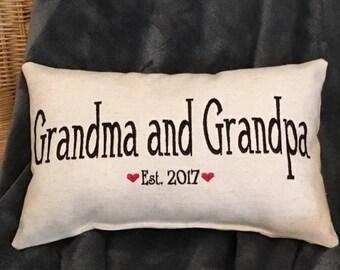 Pillow, Grandma Gift, Grandpa Gift, New Grandma Gift, New Grandpa Gift, Grandparents Gift, Grandma Pillow, Grandpa Pillow, New Grandparents