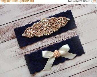 ON SALE Wedding Garter, NO Slip Lace Wedding Garter Set, bridal garter set, pearl and rhinestone garter set, vintage rhinestones Style A2012