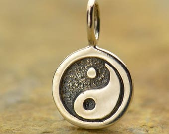 Sterling Silver Yin Yang Charm.