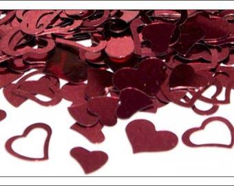 Burgundy Mixed Hearts table confetti, weddings, wedding supplies, wedding decorations, table decorations, UK seller