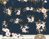 50% OFF Navy Blue Flower Bouquet Clipart, Blush Wedding Flowers, Flower Bunches, Floral Arrangement for digital Scrapbooking, Wedding, Birth