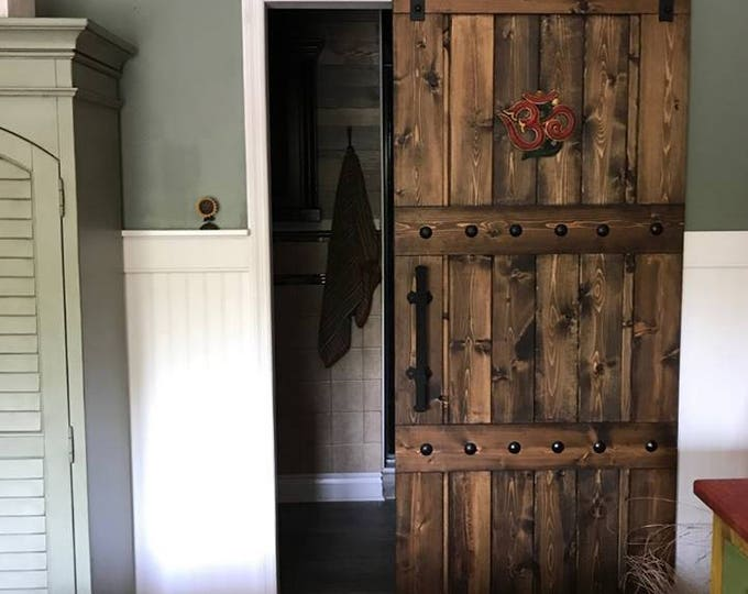 Featured listing image: Horizon Interior Barn Door - Sliding Wooden Door - Barn Door w/ Hardware - Farmhouse Style Door - Rustic Barn Door - Barn Door Package