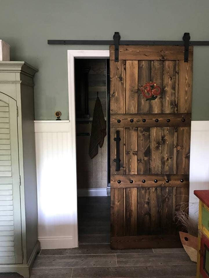 Horizon interior barn door sliding wooden door barn for Barn door pictures
