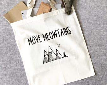Move Meowtains Tote Bag