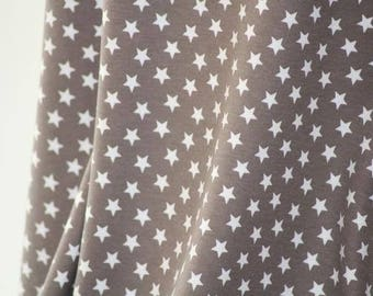 Cinder White Stars - C-Pauli - Organic Cotton Double Knit  UK Seller