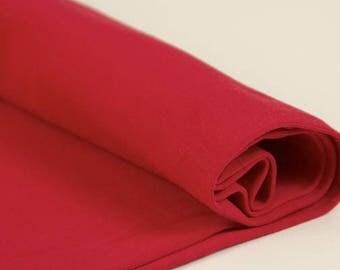 Ribbing Tango red - CPauli  Organic Cotton ribbing Cuffing GOTS UK Seller
