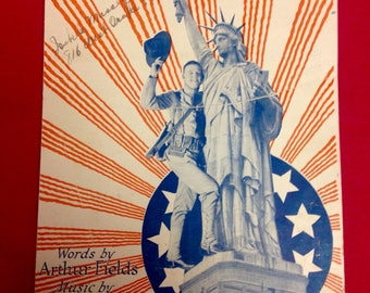 "World War 1 Sheet Music 1918 - ""When I Get Back to My American Blighty"""