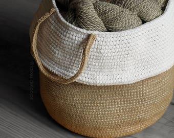 Crochet Pattern - Monroe Belly Basket