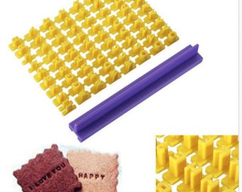 Kit complete alphabet for polymer or pastry 74 pieces