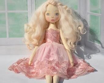 Textile doll decorative dollcollectible dolls cotton rag doll
