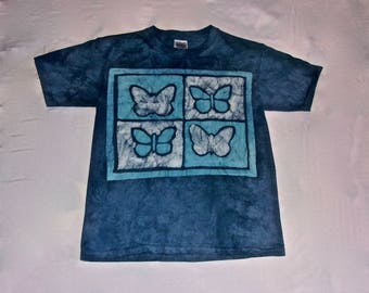 Batik Youth T-shirt with Butterfly Pattern