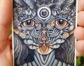 Dreamtime Companion, Art Sticker, Vinyl Sticker, Laptop Sticker, Phone Sticker, Trippy Artwork, Psychedelic Art, Ayahuasca Art