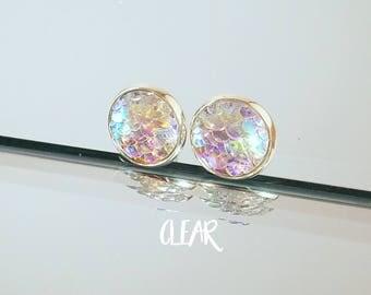 Mermaid Earrings Stainless Steel - 12mm Stud Earrings