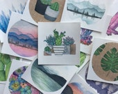 Nature Stickers, Sticker Grab Bag, Sticker Set, Mountain Stickers, Cactus, Vinyl Stickers, Art Stickers,  Nature Art, Sticker Bag, Sticker