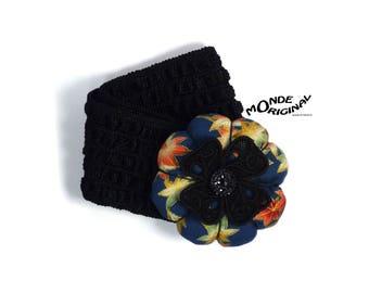 Headband elastic fabric flower Japanese lace