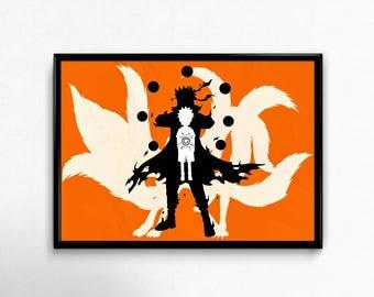 Naruto Jinchuruki Minimalist design