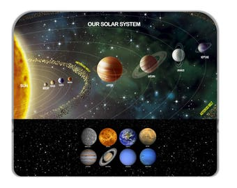 Our Solar System Picture Novelty  Mouse Pad Mouse Mat