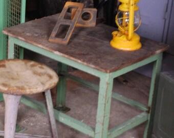 Industrial coffee table in steel, loft furniture side table