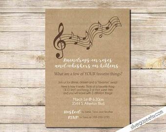 piano invitation etsy