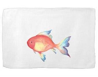 Tropical Fish Kitchen Towel,Sea Creature Dish Towel,Tea Towel,Flour Sack Towel,Sea Dish Towel,Flour Sack Kitchen Towel,Flour Sack Dish Cloth