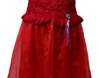 Red ruffle Princess 8 - Picanoc costume