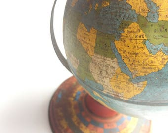 Globe - vintage globe - vintage world globe - antique globe