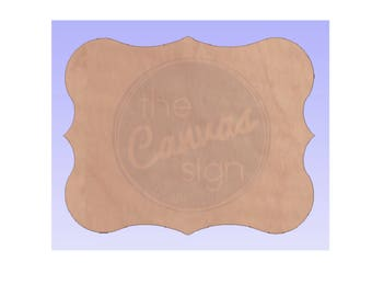 Unfinished Wood Decorative Plaque Cutout #39 - DIY - Wreath Accent - Door Hanger - Ready to Paint & Personalize